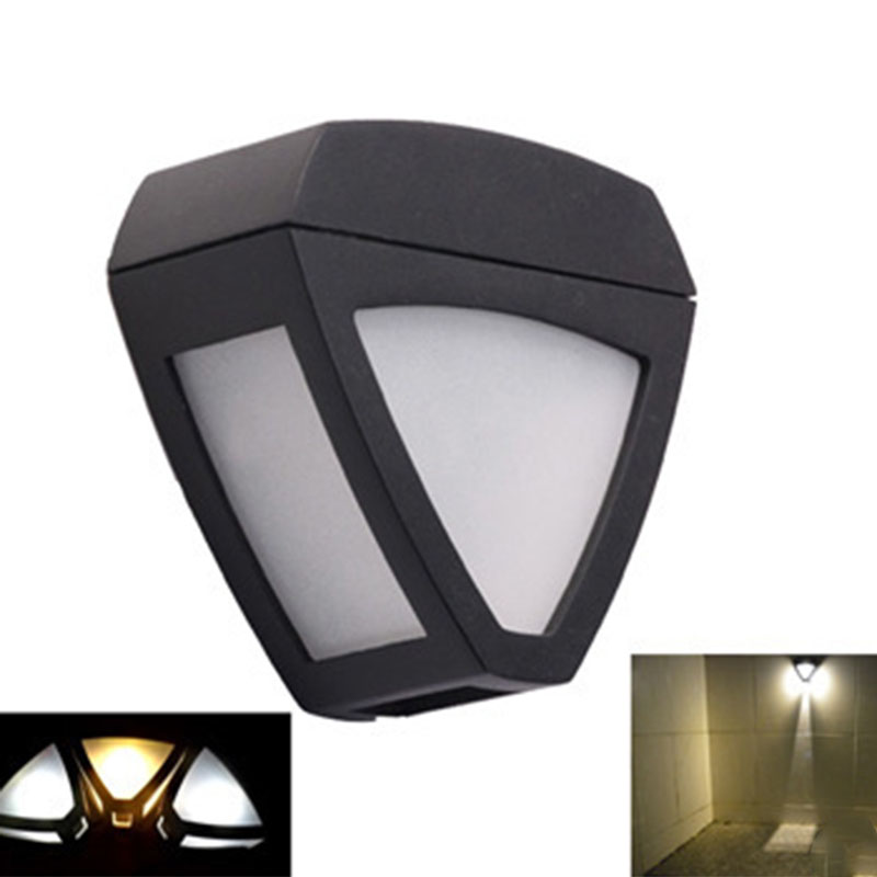 2016 New Fashion Retro Wall Mounted Solar Lamp Wireless Security 2 LEDs Gutter Fence Hallway Sidewalk Street Home Roof Light(China)