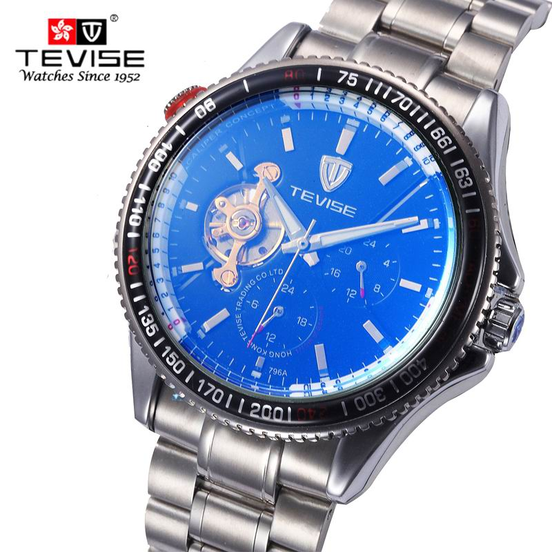 rotator discs dreams clock sapphire mirror mens watch Men Top Luxury Brand Tourbillon Steel Band mechanical Sports Wristwatches<br>