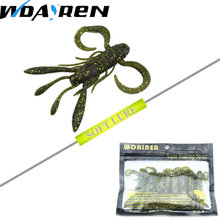 8pcs/lot 8cm 8.5g Attractive silicone bait Worms Fishing Lure Smell Fish Crab Fishing Soft Lures Plastice Grubs FA-338 YR-474(China)