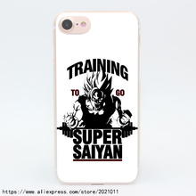1936X Training to go Super Saiyan Dragon ball Z Hard Transparent Case for iPhone 7 7 Plus 6 6S Plus 5 5S SE 5C 4 4S