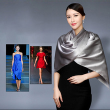 100% Silk Satin Long Scarf 55X180cm Pure Mulberry Silk Plain Color Silk Scarf China Silk Supplier Wholesale Free Shipping