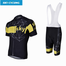 Sky Cycling Jerseys Sets 2017 Pro Team Quick Dry Mesh Cycling Clothing Mtb/Road Bike Outdoor Sportswear roupas  de ciclismo