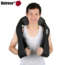 Electrical Shiatsu Massage Car Home Dual Back Neck Shoulder Kneading Warm Massage infrared Massage Knead Pillow Multifunction