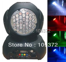 Free Shipping 3Wx36 RGB LED Moving Head Wash Disko Light Effect DMX Uplight DJ Stage Lighting Band Bar Holiday Party Equipment(China)