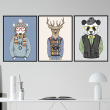 AZQSD Fashion Animals A4 Vintage Large Art Prints Poster Hippie Wall Picture Canvas Painting No Framed Office Home Decor PP051(China)