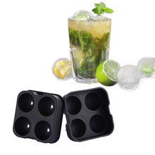 Whiskey Cocktail Ice Cube Ball Maker Mold 4 Large Sphere Mold Silicone Drink Party Ice Tray Freeze Mold Maker