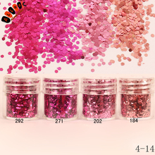 1 Jar/Box 10ml Nail Beauty 4 Mix Red Rose Nail Glitter Hex Sequins Powder Paper For Nail Art Decoration Optional 300 Colors 4-14