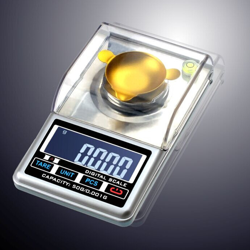 Mini High Accuracy 0.001g~ 50g High Definition jewelry Scale quality pocket electronic digital scale +retail box<br>