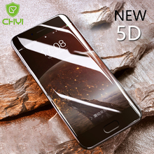 CHYI 5D Curved Glass For Oneplus 5 Full Cover Round Edge 1+5 Screen Protector For One Plus 5 Tempered Glass Better than 4D 3D