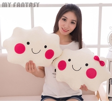 Lovely White Cloud Cushion Plush Toy Pillow Back Cushion Throw Office Sofa Home Decor Cute Children Birthday Gift GJT9069(China)