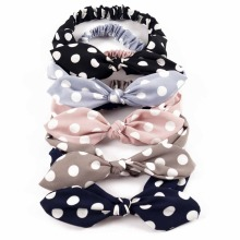 Buy Girls Women Polka Dots Headband Rabbit Ears Hairband Ladies Elastic Bands Handmade Bowknot Hair Accessories for $1.48 in AliExpress store