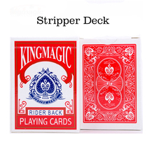 Stripper Deck Trapezium Card magic Narrow and Wide Card Poker Set Close Up Card Magic Tricks for Magician(China)