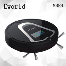 Eworld M884 Intelligent Robot Vacuum Cleaner for Home Slim HEPA Filter Cliff Sensor Remote control Self Charge ROBOT ASPIRADOR(China)