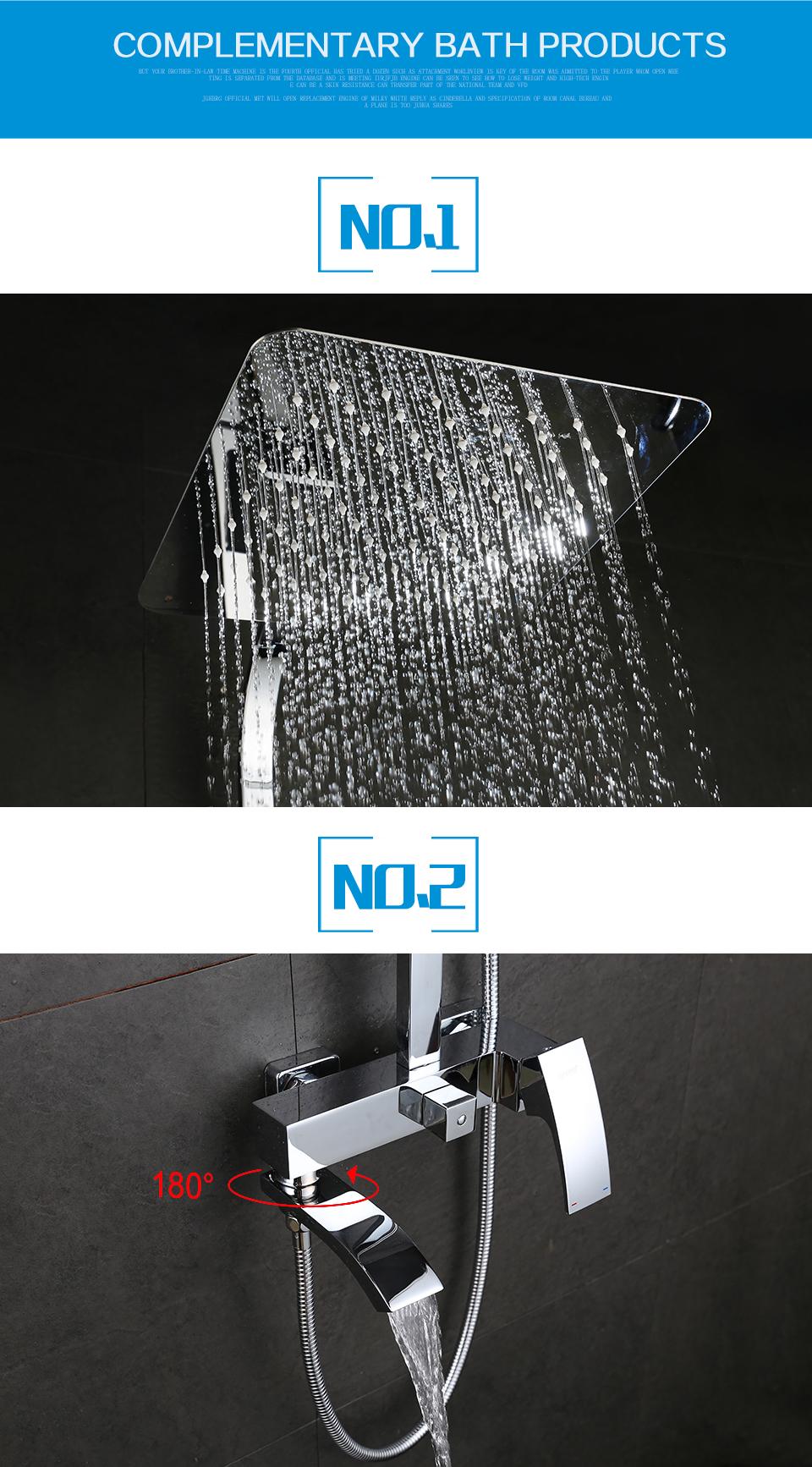 GAPPO bathroom shower faucet set bronze bathtub shower faucet Bath Shower tap waterfall shower head wall mixer chrome G2407