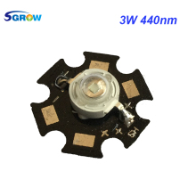 10pcs Blue led 3W 440nm with PCB star , led plant light chip for grow and aquarium light(China)