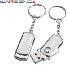 Stainless Steel USB 3.0 pen drive 4gb 8gb 16gb usb flash drive 32gb 64gb pendrive usb stick flash drive with keychain thumbdrive(China)