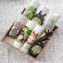 diy hand dyed fabric 15*15cm Totoro painting canvas fluid handmade diy patchwork fabric digital printed cloth