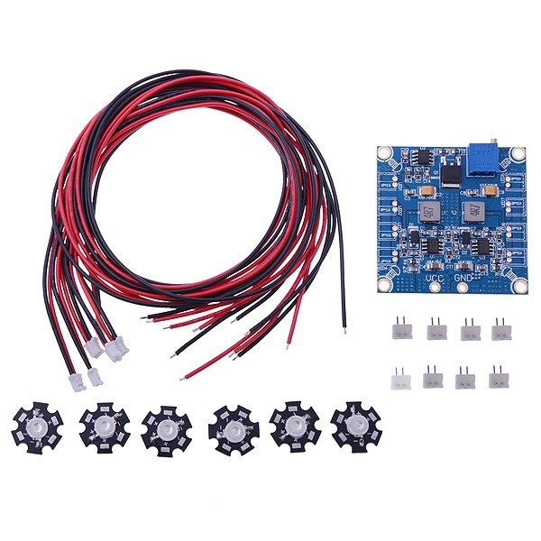 F07946 RC LED Flashing Night Light w/ Control Board Module &amp; Extension Wire for Hexacopter FPV + FS<br><br>Aliexpress