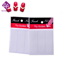 15 Designs Optinoal DIY French Nails Tips Guides Sticker Style Form Fring Manicure Gel UV Set Nail Art Stencil Pro Hot