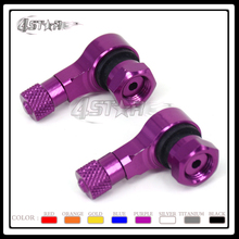 2 Pcs 8 Color Universal Aluminum Motorcycle 90 Degree Wheels Tire Tyre Valve Stems Caps Free Shipping(China)