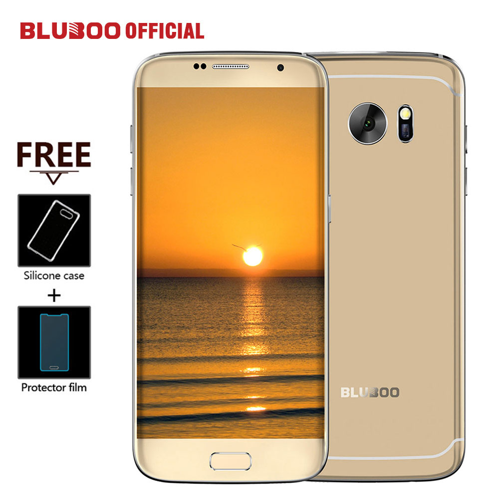 "BLUBOO Edge Mobile Phone 5.5"" HD Double Sided Curvy 4G LTE MTK6737 Quad Core 2GB RAM 16GB ROM 13MP Android 6.0 OTG Fingerprint(China (Mainland))"