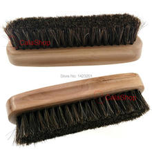1 Pcs / Lot Professional Horse Hair Bristle Brush Wooden Handle Leather Boot Shoes Polishing Brush