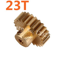 11153 Motor Gear 23T Metal Brass Pinion HSP Parts For 1/10 Electric Model RC Car Off Road Buggy 94107 Pro XSTR Hobby Baja Himoto