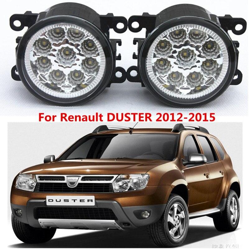 For Renault DUSTER  2012-2015 Car styling front bumper LED fog Lights high brightness  fog lamps 1set<br><br>Aliexpress