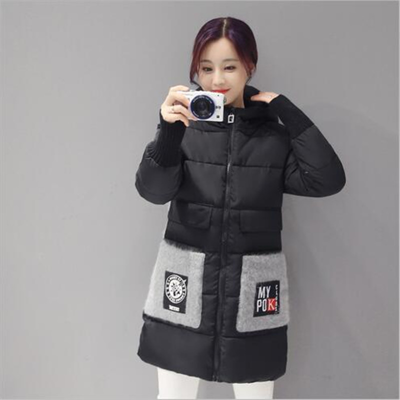 2017 New Winter Loose Women Padded Jacket Coat Fashion Hooded Down Cotton Jacket Thicken Warm Slim Long Outerwear Parka A1850Одежда и ак�е��уары<br><br><br>Aliexpress