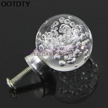 3pcs/lot Door Pull Clear Bubble Acrylic Door Pull Knob Drawer Cabinet Cupboard Handle 30mm Hardware Hot Sell