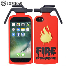 TOMKAS Case For iphone 7 7 Plus Case 3D Fire Extinguisher Mobile Phone Case For iphone 7 7 plus Cute Cartoon soft silicone Cover(China)