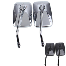New Black/Chrome 10MM Motorcycle Mirrors Scooter Street Bike Side Rearview Mirrors For Harley Cruiser Touring retrovisor moto