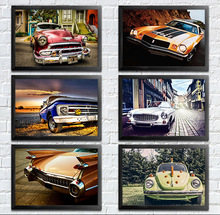 Retro Art  Picture vintage car decorative painting the living room wall nostalgia cafe bar KTV wall painting