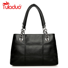 Women's Shoulder Bags PU Leather Plaid Bag Brand Designer Ladies Chain Handbag Women Casual Tote Bags High Quality sac a main(China)