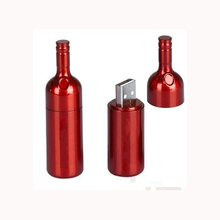 Promotional Gift Genuine Wine Bottle USB Flash 8GB 16GB 32GB USB 2.0 Memory Drive Stick Pen/Thumb/Car