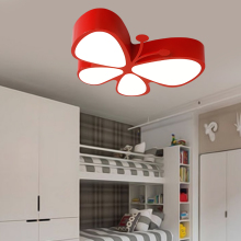 Children lamp LED ceiling lamps butterfly children's LED eye care cartoon kindergarten child shop ceiling lights red ZA ET69(China)