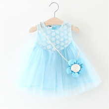 Baby Dress Direct Selling Knee-length Beach Cute 2017 New Summer Dress Girls 0-1-2-3 Years Old Female Baby Sleeveless Princess