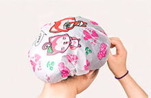 Lovely cartoon high quality waterproof bathing cap shower cap(China)