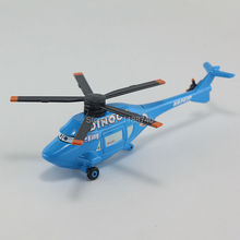 Pixar Cars Dinoco Helicopter Planes Diecast Metal Toy Car For Children Gift 1:55 Loose New In Stock(China)