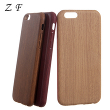 Retro Vintage Wood Grain Bamboo Pattern Leather PU Case for iPhone 5 5s SE 6 6s 6plus 6splus 7 7Plus Thin Cover Protector Shell