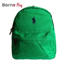 Hot Cute anti-lost canvas backpack Kids cotton mochila infantil High quality satchel bag boy girls backpack Children polo bags