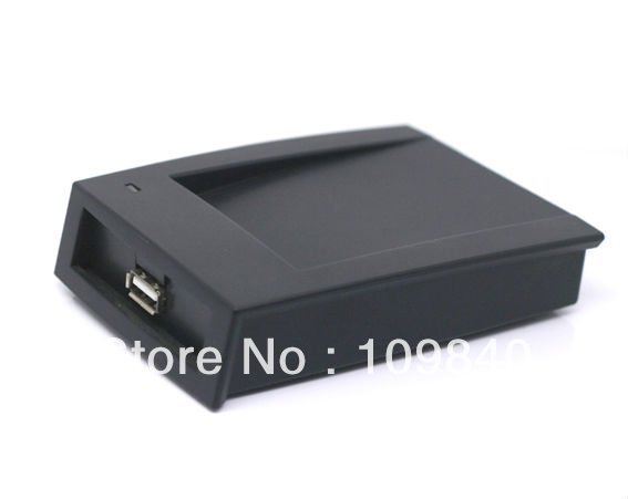 USB 125KHz RFID Reader,Compatible EM4100 desktop reader,OEM output 14 Numbers<br>