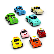 1:43 Cartoon Car Pull Back Car 8 in 1 Scale Fast Model Car Diecasts&Toy Vehicles Kit Birthday Gift Educational Toys For Children(China)