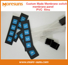Fast Free Ship 20PCS Custom Made Membrane Switch/Membrane Panel/PVC films/IP67 Waterproof FPC Membrane Switch Manufacturer