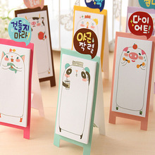 NEW Korea Stationery Pretty Kawaii Cartoon Sticker Post It Bookmarker Memo Pad Flags Sticky Note 7.16(China)