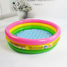 3 layers Rainbow color bright inflatable round bottom inflatable 3 sizes Children's ocean ball pool Baby play swimming pool(China)