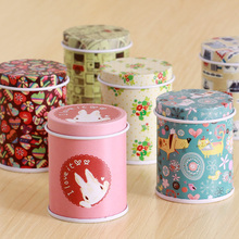 1pcs creative super mini tea box candy storage box wedding favor tin box cable organizer container household Free shipping