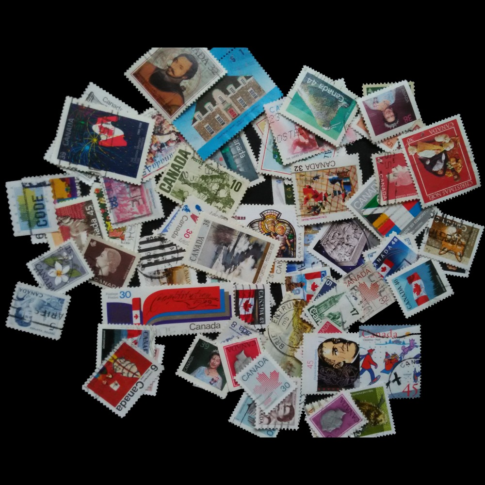 Canada100 PCS / LOT All Different Used Postage  Stamps With Post  Mark  No repeat In Good Condition For Collecting<br><br>Aliexpress