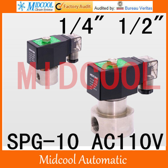 High pressure stainless steel Solenoid valve SPG-10 AC110V normal closed type<br><br>Aliexpress