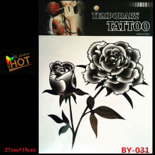 HBY-031 New product Sell well Arm tattoo stickers Body Art waterproof Large temporary tattoos Black Rose Design Free delivery